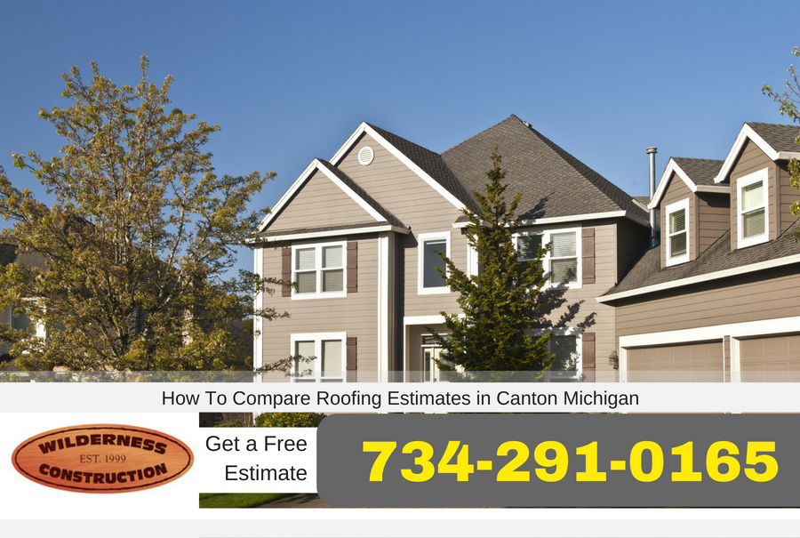 How To Compare Roofing Estimates in Canton Michigan