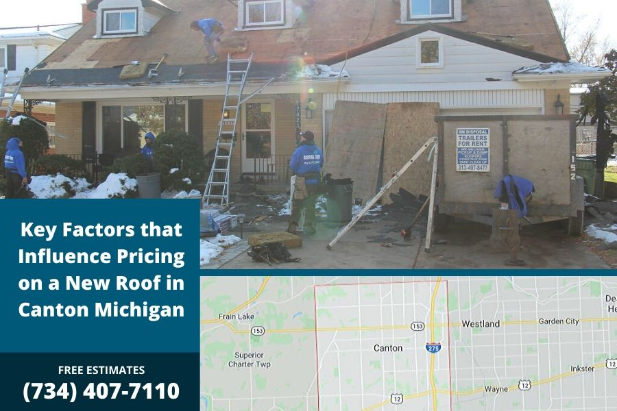 Key Factors that Influence Pricing on a New Roof in Canton Michigan